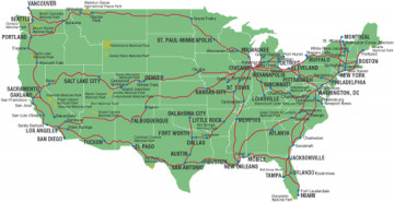 Amtrak Karte USA