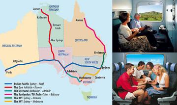 Bahnstreckennetz Australien