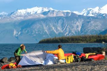 Camping Kluana Lake am Yukon River ©Government of Yukon