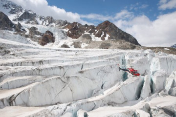 Flug über die Gletscher des Denali National Park