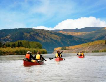 Kanufahrt auf dem Yukon River in Kanada