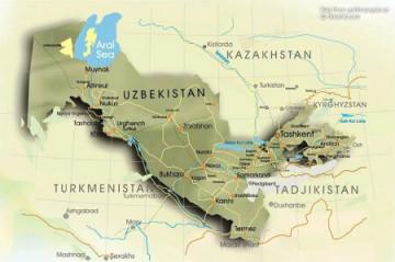 Landkarte Uzbekistan ©OrexCA.com