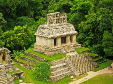 Templo del Sol von Palenque in Chiapas