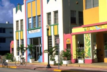 Art Deco Viertel in Miami South Beach