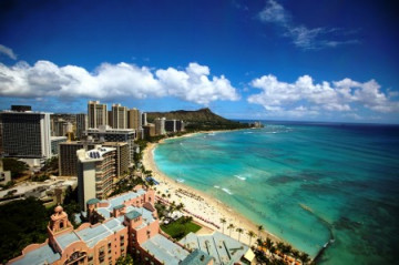Waikiki Beach Honolulu auf Oahu, Hawaii ©HTA by Dana Edmunds
