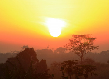 Uganda Sonnenuntergang