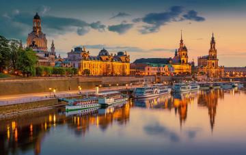 Blick auf Dresden Elbufer