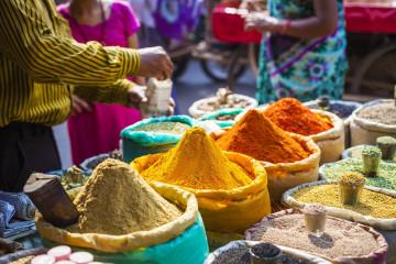 Indien Reise: Markt - Gewürze