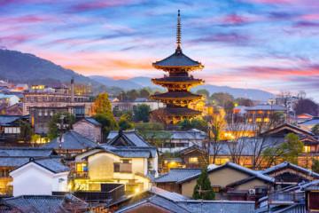 japan kyoto skyline
