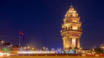 Kambodscha Reise: Independence Monument Phnom Penh