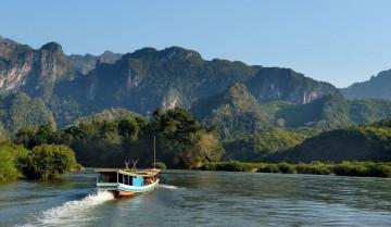Laos Reise: Bootstour