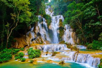 Laos Reise: Kuang Si Wasserfall