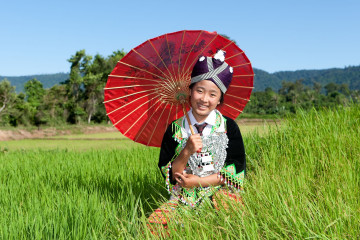 Reise Laos: Hmong Frau