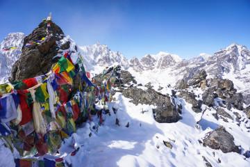 Reise Nepal - Friedensflaggen