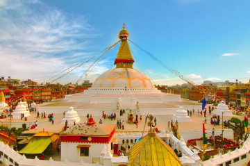 Reise Nepal - Stupa in Bodnath