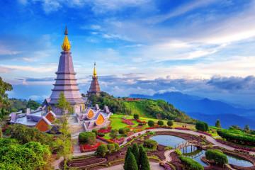 Thailand Reise: Chiang Mai Pagoda Doi Inthanon Nationalpark