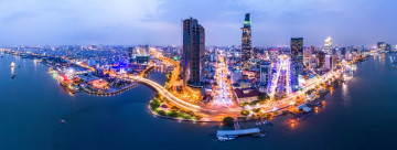 Reise Vietnam: Skyline Ho-Chi-Minh-Stadt - Saigon