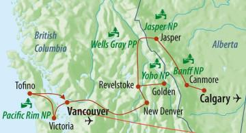 Kanada Rundreise - Nationalparks des Westens