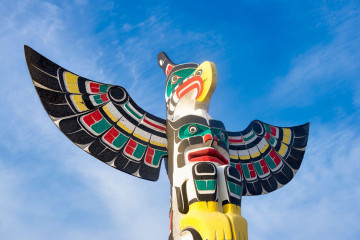 Kanada Reise Totem Ureinwohner