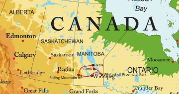 Kanada Reise Manitoba Route