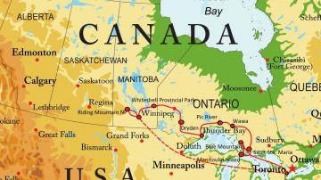 Kanada Reise Route