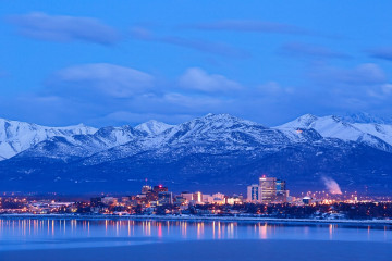 Alaska Anchorage Skyline
