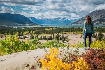 Alaska Frau Wanderung