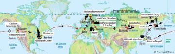Weltreise - Reiseverlauf