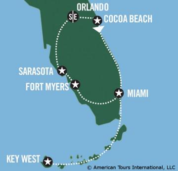 Reiseverlauf Rundreise Florida
