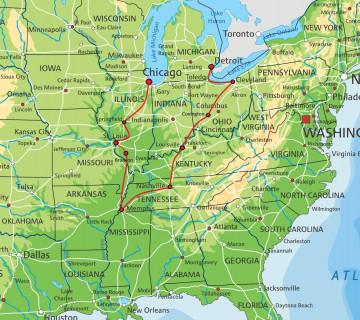 USA Reise Reiseroute