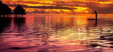 Südsee Reise - Sonnenuntergang Tahiti