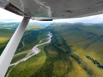 Kanada und Alaska Reise Flugaufnahme
