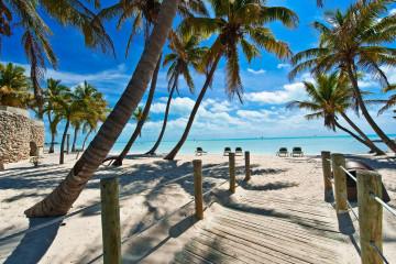Footbridge am Strand von Key West