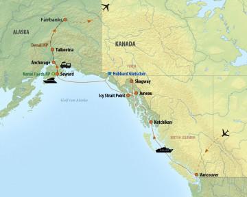 Alaska Urlaub - Reiseroute