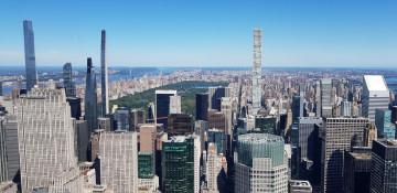 Blick vom Summit One Vanderbilt Tower auf Manhattan