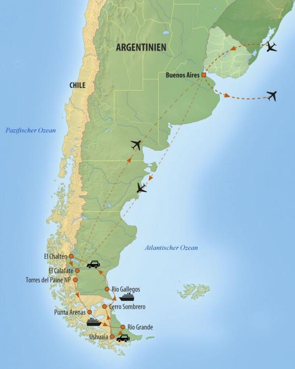 Patagonien Highlights Karte.Argentinien Reise Einzigartiges Patagonien Und Feuerland Meso Reisen