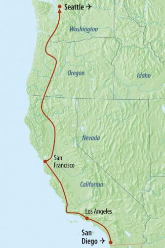 USA Reisen Westküste: Zugreise San Diego - Seattle - MESO Reisen