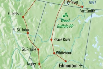 Route: Northwest Territories Entdeckerreise