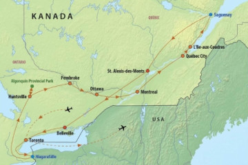Route: Höhepunkte Ostkanadas & Kanuabenteuer Algonquinpark