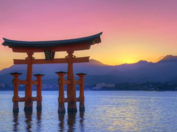 japan sonnenuntergang reise