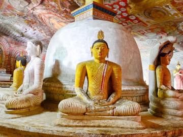 Sri Lanka Reise: Dambulla Höhlentempel