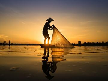 Vietnam Reise: Fischer