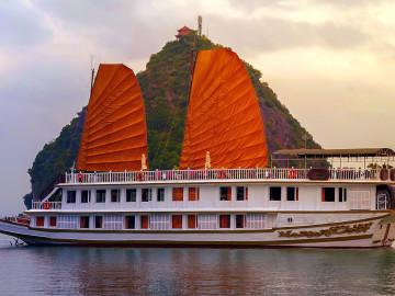 Reise Vietnam Halong Bucht Boot Kreuzfahrt
