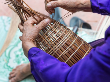 Reise Vietnam: Handwerk - Korbflechten