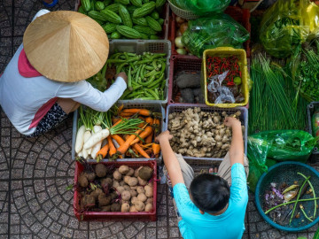 Reise Vietnam - Markt in Ho-Chi-Minh-Stadt - Saigon