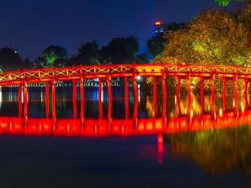 Reise Vietnam: Hoan Kiem See in Hanoi
