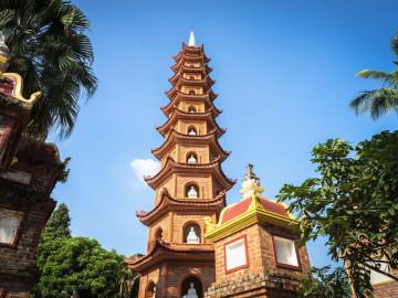 Vietnam Reise: Old Tower Tran Quoc - Hanoi