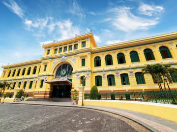 Reise Vietnam: Hauptpost Saigon - Ho-Chi-Minh-Stadt