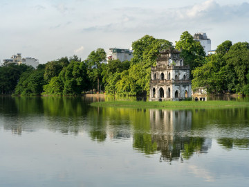 Reise Vietnam: Turtle Tower und Sword Lake - Hanoi
