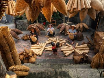 Vietnam Reise: Traditionelle Bambuskörbe